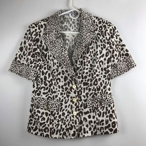 Vintage Giorgio Grati Animal Print Jacket Sz It 42